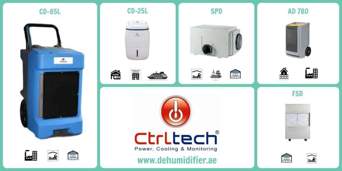 Dehumidifier model offered by CtrlTech Dehumidifiers UAE.