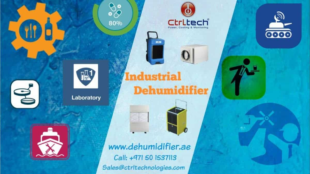 Industrial dehumidifier Dubai to reduce humidity.