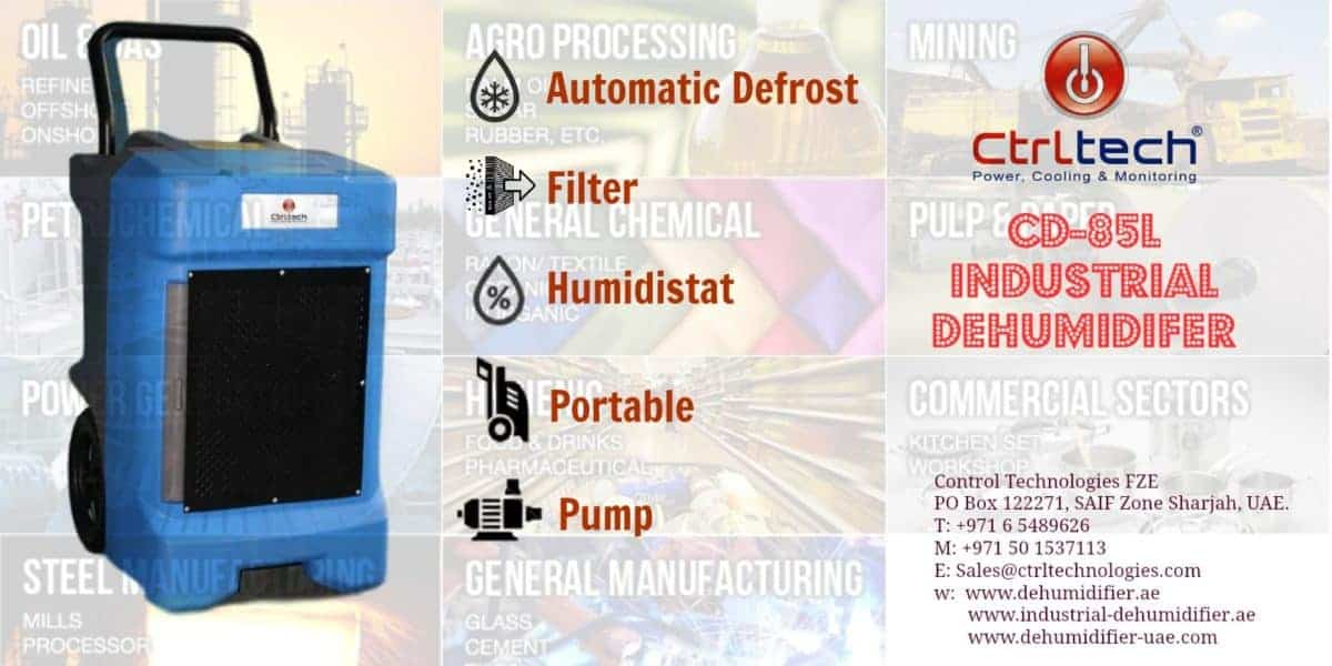 Commercial dehumidifier CD-85L for large spaces.