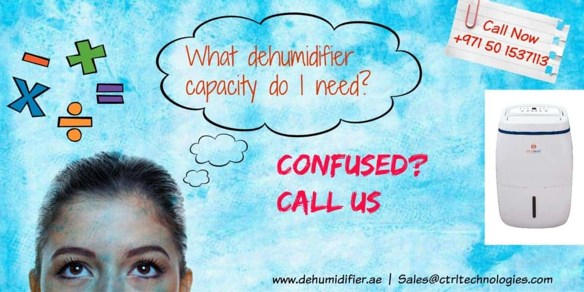Dehumidifier calculation for capacity sizing.