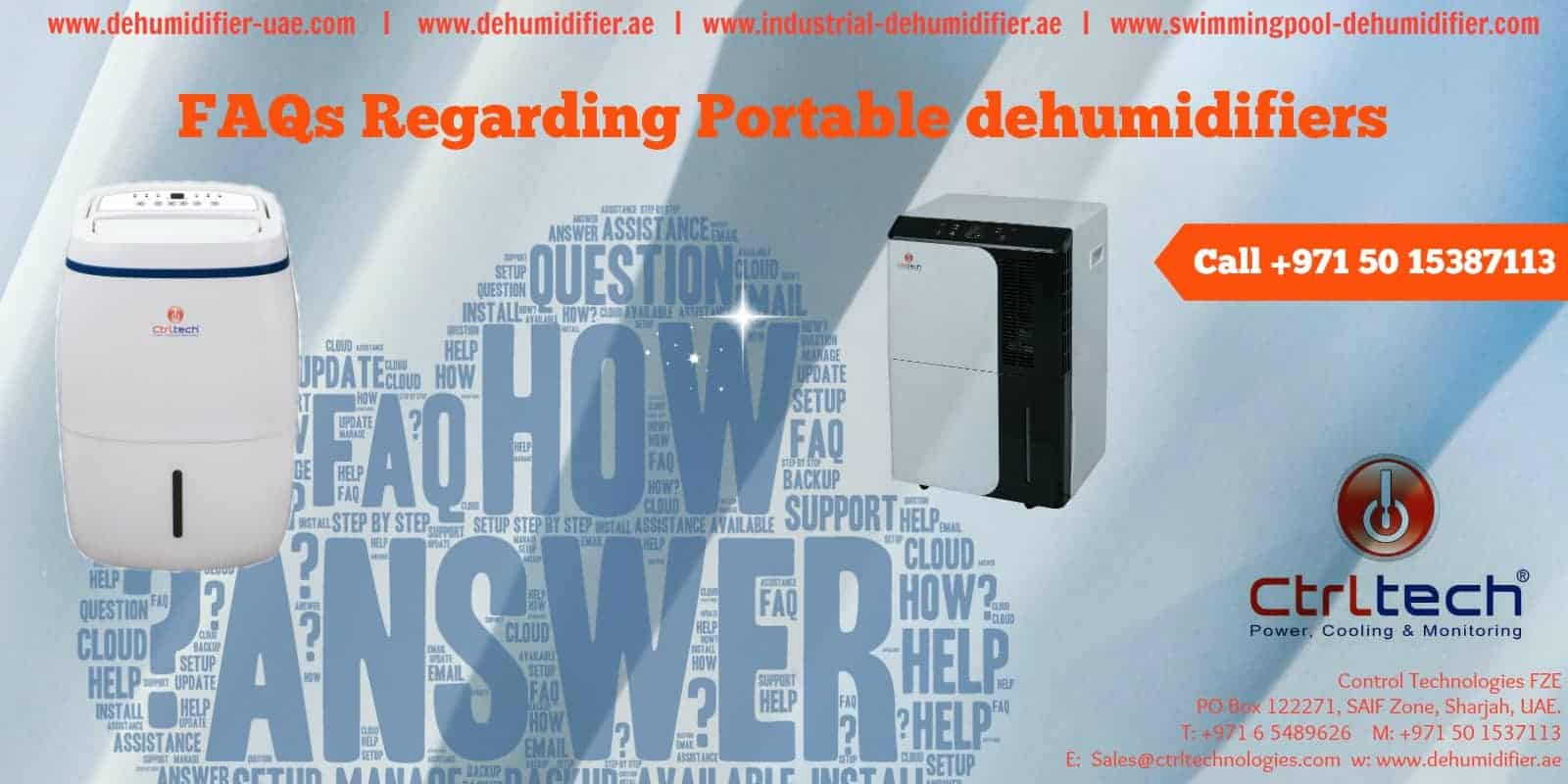 FAQs Regarding Portable dehumidifier or room dehumidifier.