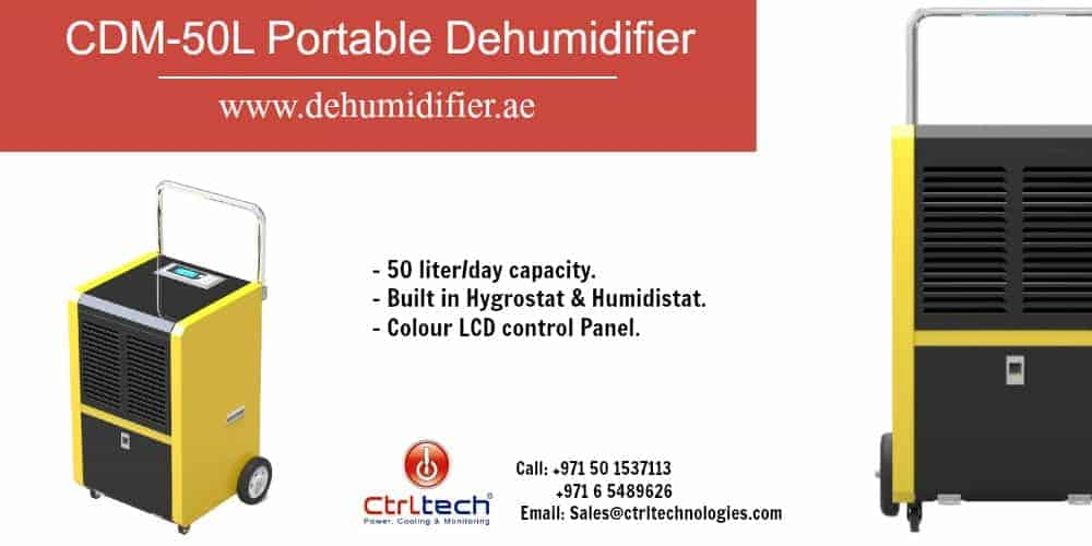 CDM-50L portable dehumidifier industrial.