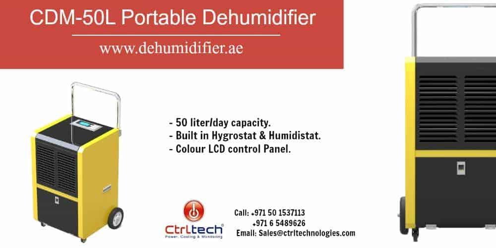 CDM-50L portable dehumidifier Dubai, UAE.