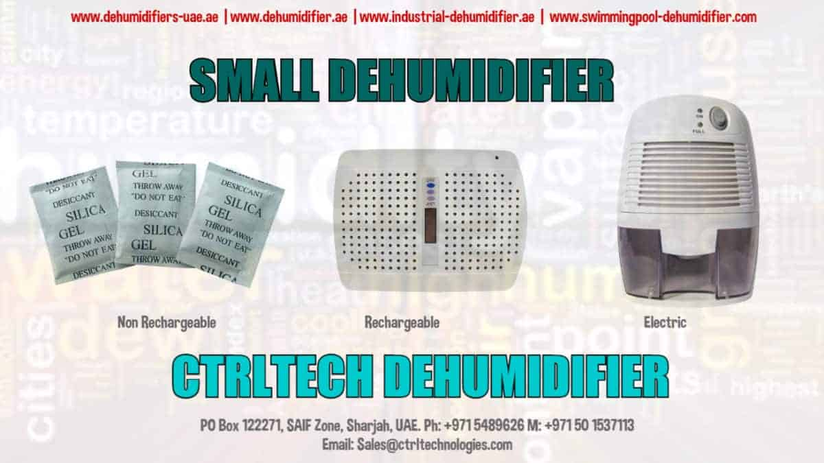 Mini Dehumidifier which is compact & small.