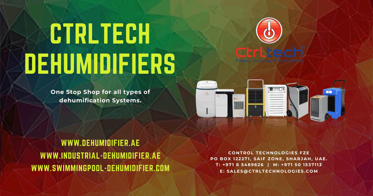 Dehumidifier in UAE, Saudi Arabia, Oman and Bahrain.