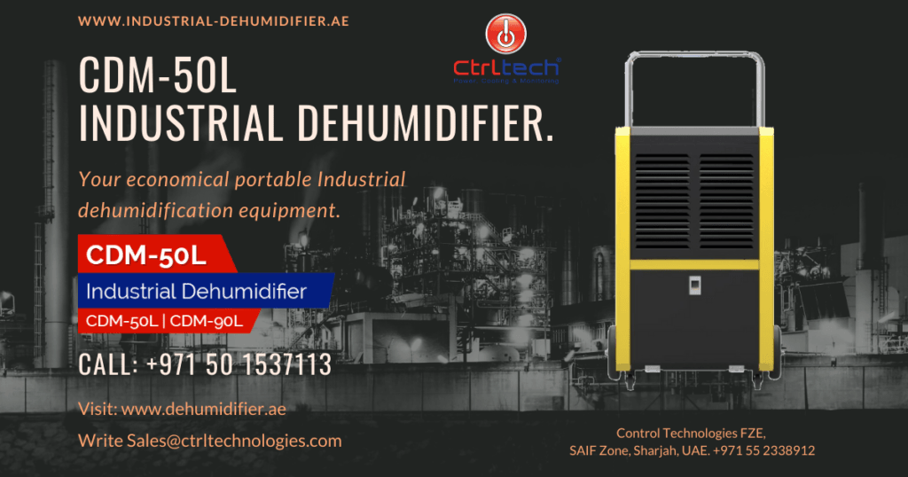 CDM-50L de-humidifier for humidity reduction.