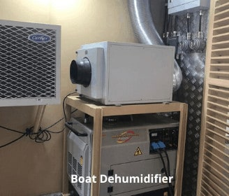 Boat dehumidifier for marine, yacht and caravan.