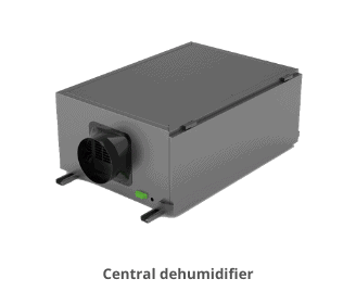 Central dehumidifier which compact in size.
