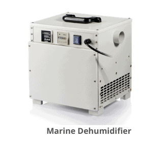Marine dehumidifier for Boat, yacht and RVs.