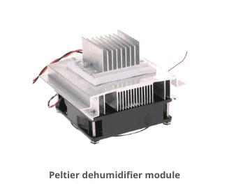 Peltier dehumidifier module.
