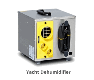 Yacht dehumidifier to reduce humidity in boat
