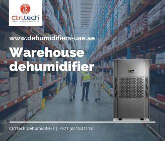 Warehouse dehumidifier in Dubai, Jeddah and Riyadh.